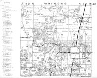 Minong Township - East, Washburn County 1952